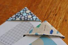 Fabric Corner Bookmarks Tutorial