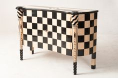 .Black & White Checkered Cabinet