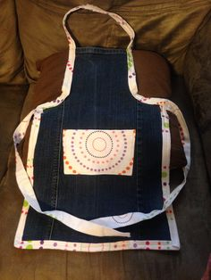 Fun handmade denim child's apron.  By Upcycled_Diva