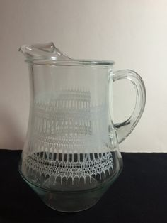 Vintage clear juice / punch / water / drink by aPEACEofCLOTHING