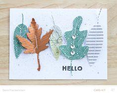 LOVE! Leafy Hello Card by pixnglue at @studio_calico