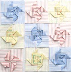 3-D Pinwheel quilt. Pumpkinpatchquilter.com for tutorial http://www.pumpkinpatchquilter.com/2011/09/3d-pinwheel-block-tutorial.html