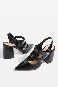 3e401e563 GABRIELLA Black Cross Strap Slingback Heel Shoes Your Shoes