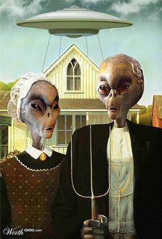 American Gothic, UFO-style.