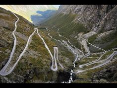 Are you driving by car from Bergen to Trondheim? Beautiful drive via Geiranger and Gaularfjellet. Find information and travel advice here. Beautiful Roads, Beautiful Places, Adventure Awaits, Lofoten, Places To Travel, Places To See, Holidays In Norway, Les Fjords, Dangerous Roads