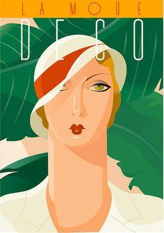 size: Art Print: Deco Divas I by Richard Weiss : Copyright by International Graphics 1981 GmbH Art And Illustration, Illustrations Posters, Art Deco Posters, Vintage Posters, Vintage Art, Retro Kunst, Retro Art, Motif Art Deco, Art Deco Design