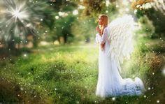 Angel by OlgaBoyko on DeviantArt Wedding Cake With Initials, Flowers Gif, Angels Among Us, Beautiful Gif, Beautiful Waterfalls, Angel Art, Fairy Art, Videos, Wedding Cakes