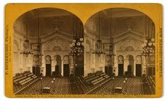 This image of the Grand Lodge Room at the New Masonic temple,  in Philadelphia in 1860 show a rare glimpse of the interior of a Masonic temple in the nineteenth century.