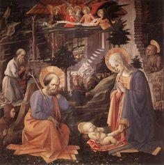 FILIPPO LIPPI - Adorazione con i santi Girolamo, Maddalena e Ilarione - 1455 ca - Firenze, Galleria degli Uffizi