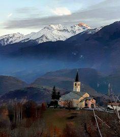 Cala la sera a Giaglione  #myValsusa 27.11.16 #fotodelgiorno di Maurizio Bresciani