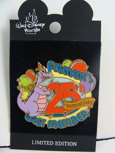 Disney Pin Cast Member Figment 25th Anniversary LE1000 ON ORIGINAL CARD  #dinsey #figment #tradingpin
