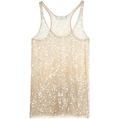 SEA SHELL MESH TANK TOP ($685) ❤ liked on Polyvore