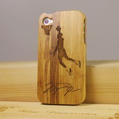 #Jordan #NBA Nature Bamboo Wood Case for iPhone 5 iPhone 4/4S #iPhone Case