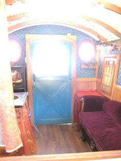 pee wee movie prop gypsy wagon conversion renovation 004 Would would you do with this Renovated Gypsy Vardo Wagon? Gypsy Wagon Interior, Gypsy Caravan Interiors, Gypsy Home, Wagons For Sale, Caravan Renovation, Artwork For Home, Portable House, Gypsy Decor, Luxury Vinyl Plank