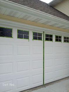 Don't blink...: Curb appeal... garage door