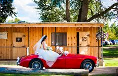 Bride in a red convertible - love it! {Illuminated Moments}