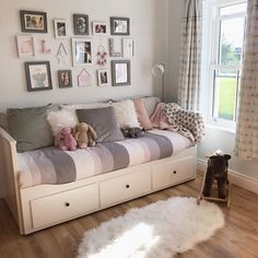 Small Room Design Bedroom, Guest Bedroom Office, Bedroom Decor For Teen Girls, Home Room Design, Room Ideas Bedroom, Home Bedroom, Blue Girls Rooms, Daybed Room, Cosy Room