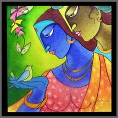 Krishna Abstract Painting Abstract painting of radha