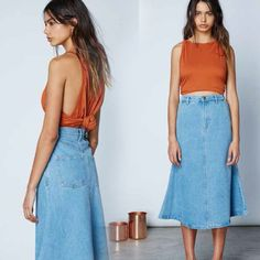 Orange with faded denim for ss16