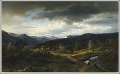 Axel Nordgren (1828-1888), Paysage - 1855.