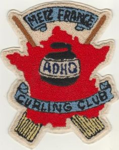 Old French curling club patch - 1940's