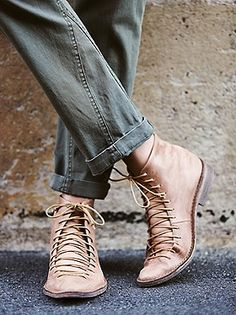 Leather Ankle Boots, Lace Up Boots, Black Boots, Bootie Boots, Shoe Boots, Tan Booties, Shoes Sandals, Free People Boots, Mode Shoes