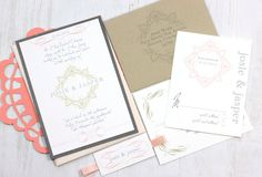 Peaches & Cream  Blush Pink Wedding Invitations With by BeaconLane, $6.00