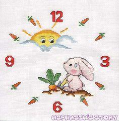 Orologio Coniglio Sole1a