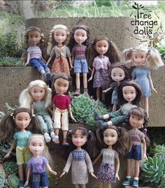 "Tree Change Dolls - upcycling plastic ""glamour"" dolls to something much more pleasing. DIY links #treechangedolls"