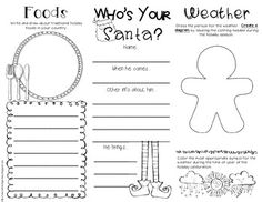 Christmas Around the World Brochure FREEBIE! This is perfect for my class to do research during our holidays unit!