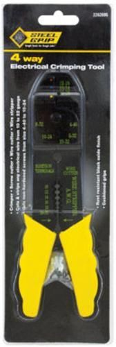 Steelgrip 2262095 4 Way Electrical Crimping Tool, Black Oxide