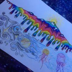 New Trippy Art Mandalas 33 Ideas Trippy Drawings, Cool Drawings, Trippy Painting, Painting & Drawing, Psychadelic Art, Acid Art, Posca Art, Hippie Art, Hippie Drawing