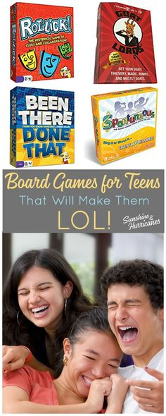 Laughter is a great way to connect with your teen or tween. Bring some fun back into your relationship with these board games for teenagers that will have them laughing out loud. Board Games for Teens| Board Games for Tweens| Fun Board Games for Teens| Game for Teens| Family Board Games|Family Game Night via @sunandhurricane