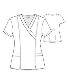 BEAUTIFUL AND BALANCEDThis is one of our best-selling tops, and it's easy to see why:  good looks, great fit, and guaranteed performance add up to a scrub top that can't be beat.  Princess seams outline and accentuate, while back elastic and center slits add flair and a bit of sass.     Grey's Anatomy 2 Pocket Crossover Scrub Tops  V-neck  Princess seams  Center slits   Back elastic   Two pockets  77% polyester/ 23% rayon  Medium center back length: 26 1/2 Scrubs Outfit, Scrubs Uniform, Dental Uniforms, Beauty Uniforms, Cute Scrubs, Medical Scrubs, Scrub Tops, Princess Seam, Refashion