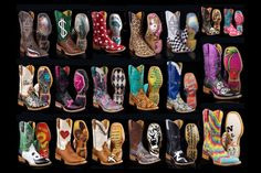 Love these...Tin Haul, baby! Cowboy boots with serious attitude! (All on sale + FREE shipping!)