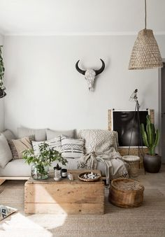 Light bohemian living room