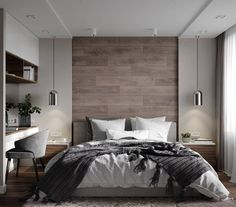 Inspirations Mens Bedroom Ideas - All Bedroom Design Rustic Master Bedroom, Wood Bedroom, Modern Bedroom Design, Master Bedroom Design, Contemporary Bedroom, Home Decor Bedroom, Bedroom Furniture, Bedroom Art, Bedroom Ideas Master For Couples