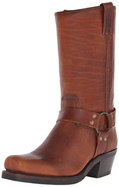 FRYE Women's 12R Harness Boot, Cognac Washed Oiled Vintag...