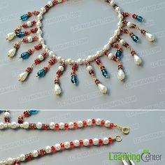 finish this drop beads bib necklace