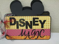 Disney Mini Album or Autograph Book. $24.99, via Etsy.
