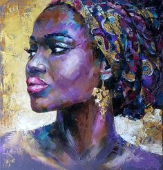 Buy Portrait african woman, oil original painting on canvas, Oil painting by Viktoria Lapteva on Artfinder. Discover thousands of other original paintings, prints, sculptures and photography from independent artists. African Artwork, African Art Paintings, African Prints, African Fabric, Original Paintings, Abstract Portrait, Portrait Art, Painting Portraits, Painting Art