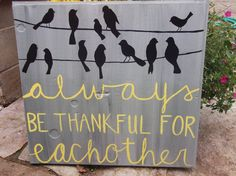 birds on wire original painting ~ love the saying... would love this hanging above the headboard of my bed