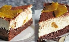 Tiramisu cake with oranges