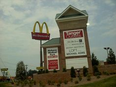 Tanger Outlets in Mebane, NC, 3 minutes from my home...oh, and look a McDonald's for my diet coke fix!