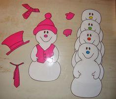de sneeuwman aankleden volgens de juiste kleur Halloween Crafts For Kids, Diy Crafts For Kids, Holiday Crafts, Art For Kids, Theme Noel, Winter Kids, Winter Theme, Business For Kids, Winter Scenes