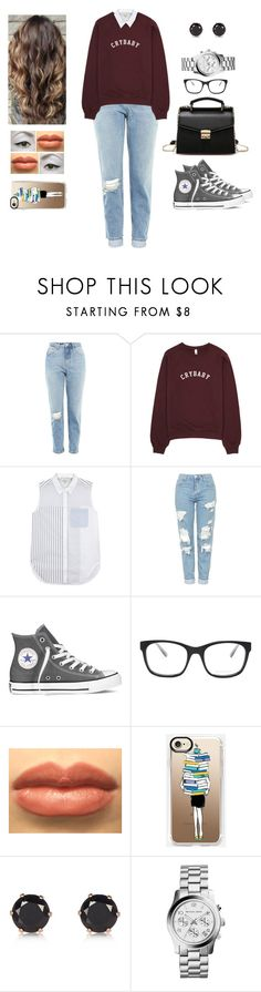 """Busy"" by muppets-cookie-monster ❤ liked on Polyvore featuring Topshop, 3.1 Phillip Lim, Converse, Bottega Veneta, River Island and MICHAEL Michael Kors"