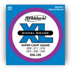"D'Addario XL 120 strings... always need these.   Make sure to get this gauge. Although I would still use the "".008s on bottom and .009s on top pack"""