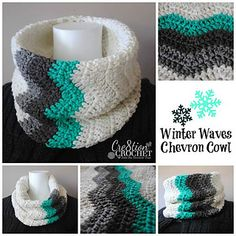 This simple chevron cowl is super easy and quick to work up. The punch of ombre color blocking really gives it a great visual punch.