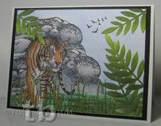 Jungle Scene - Colored with Spectrum Noir Markers by tlynn - Cards and Paper Crafts at Splitcoaststampers