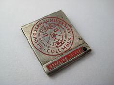 Vintage Sterling Silver Buckeyes Ohio State University Columbus Basketball Football Matchbook Charm Bracelet Pendant Jewelry by Swayitude on Etsy https://www.etsy.com/listing/187986554/vintage-sterling-silver-buckeyes-ohio